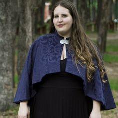 Sapphire Mini Cloak by CrystalKittyCat on Etsy, $145.00