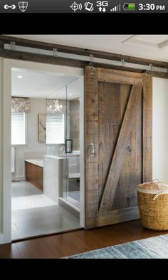 I would love love love a barn door to be used somehow in the studio. ES