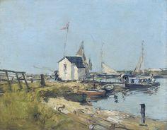 Trouville, the Port, 1880-84. Eugene Boudin