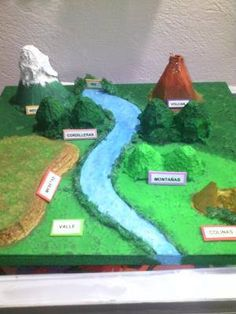School Science Projects, Science Crafts, Science Experiments Kids, Science Fair, Geography For Kids, Geography Lessons, Landforms And Bodies Of Water, Mason School, Teaching