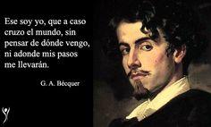 Gustavo Adolfo Claudio Domínguez Bastida, más conocido como Gustavo Adolfo Bécquer (1836 - 1870) fue un poeta, escritor y novelista del Romanticismo español. Hoy en día es considerado una de las figuras más importantes de la literatura española, y es posiblemente el escritor más leído después de Cervantes.