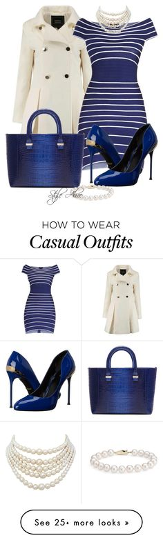 """Casual"" by alice-fortuna on Polyvore featuring Hervé Léger, Roberto Cavalli…"