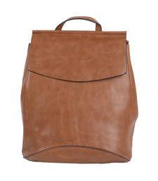 Buy Brown plain backpacks backpack online