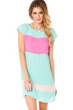ShopSosie Style : Myanna Colorblock Dress