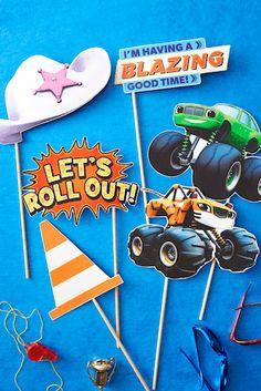 Photocall para fiesta de cumpleaños de Blaze y los Monster Machines