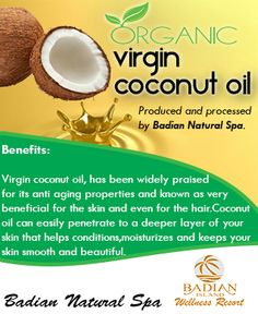 Experience the remarkable health benefits of our own Organic virgin coconut oil. ‪#‎badianislandwellnessresort‬ ‪#‎BIWRograniccoconutoil‬ ‪#‎BIWRproduct‬