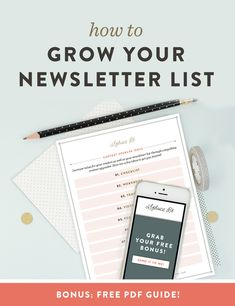 How to Grow Your Newsletter List // Are you ready to start growing your email list, but are hung up on the process? I have grown my list from 150 to in about 60 days, primarily through content upgrades. I am sharing my secrets on how to grow your li Social Marketing, Best Email Marketing, Email Marketing Design, Marketing Online, Email Marketing Strategy, Email Design, Marketing Digital, Business Marketing, Content Marketing