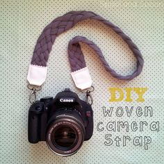 12 DIY Camera Strap Ideas: Woven Camera Strap by Spool and Spoon