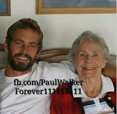 Paul Walker with his grandmother June Walker