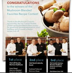 Congrats to Chef Daniel Lagarde for second place in the mushroom contest!!! We can wait to try your recipe at our grills and chefs tables nationwide! Keep up the great work! #inspirethroughfood #eurestculinary #keepitfresh #keepitsimple