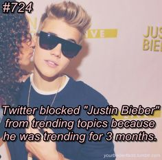 And yet some way it was unblocked I saw it trend yesterday! haha #BelieberPower