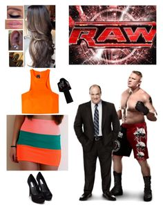 """""""Starting Off Raw With Brock Lesnar And Paul Heyman"""" by alyssaclair-winchester ❤ liked on Polyvore featuring moda, Monday, Dsquared2, Girlactik, Nly Shoes, WWE, paulheyman y BrockLesnar"""