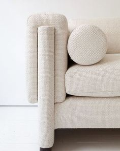 off white textured modern minimal sofa shapes circle lines interlocking egg  collective.