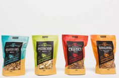 have new packaging coming out in the next few weeks. We can't wait! They're going to look great on the shelves don't you think. Gluten Free Muesli, Roasted Pecans, Plastic Pouch, Artisan Food, Winter Food, Packaging Design, Packaging Ideas, Pistachio, Cant Wait