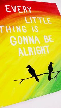 Three little birds Bob Marley wall art Canvas by EnglishBliss