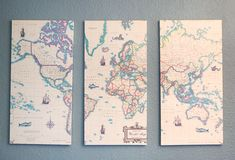 DIY 3 Piece Map from Poster