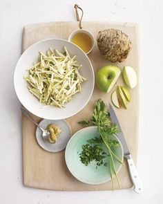 Celery Root and Apple Slaw Recipe // In need of a detox? Get your teatox on with 10% off using our discount code 'PINTEREST10' at www.skinnymetea.com
