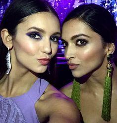 XXX ladies Deepika and Nina pose for the epic selfie at the MTV EMA awards! | PINKVILLA