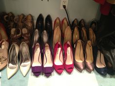 All of the shoes in Kelly Ripa's closet.  To see what she is wearing, check out http://dadt.com/live/fashion-finder.html  #KellyandMichael #FashionFinder