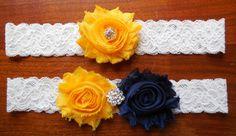 Sunflower Garter Fall Garter  by BloomsandBlessings on Etsy