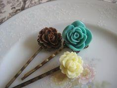 Vintage inspired bobby pin set
