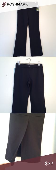 """Ativa Athletic Pants NWT Ativa athletic pants. Front button and zipper. Zipper pockets in front. Hydro-DRI fabric to wick moisture away. 10"""" slits on bottom of pant legs. Length 39"""", inseam 31"""", waist 14"""" across. Ativa Pants"""