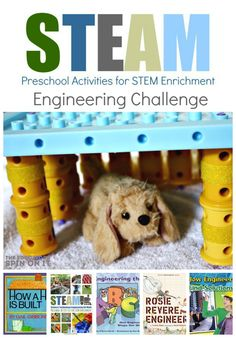 Preschool Engineering Challenge and Tips: Week 3 of STEAM E-Course for Parents and Teachers #STEM