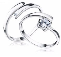 Beautiful dazzling 2 pce ring set with AAA Austrian cubic zirconia   Material: Cubic Zirconia  Material: 925 Sterling Silver Shipping: Shipping to US only  Package: Gift Wrapped Velvet Pouch Eco-Friendly: Lead & Nickel Free Crystal: AAA Austrian Zircon  Free Shipping to US 4 to 13 days