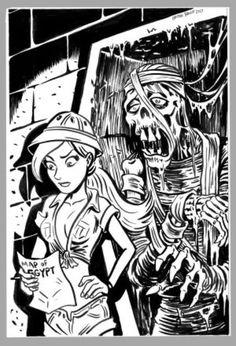 Mini Monster Ink Drawing 4 Mummy by BryanBaugh on DeviantArt