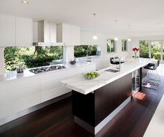 Kitchen Overlooking Backyard Kitchen Design Ideas, Pictures, Remodel and Decor