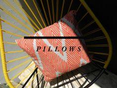 Almohadas con Diseño   - La próxima temporada tendremos nuestros propios textiles -   Para hacer un pedido dirigirse a hello@miomiostore. com / + 502 4128 6061- próximamente tendremos una tienda en línea y una línea de exportación.