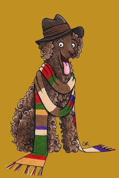The Fourth Doctor | Dogtor Who Is An Illustration Series Showing Each Doctor As A Dog And It's Too Much
