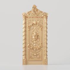 3D model of a classic baroque door for production on CNC machines 3d Design, Design Model, 3d Model Architecture, Small Business License, Main Door, Baroque, Geometry, Doors, Interior Design