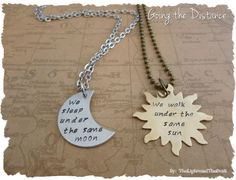 Couples Long Distance Relationship Necklace by thelightandthedark1, $42.99