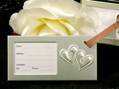 Luggage Tag Wedding Favors - Two Hearts Beating As One (Cassiani Collection 4235) | Buy at Wedding Favors Unlimited (http://www.weddingfavorsunlimited.com/two_hearts_that_beat_as_one_luggage_tag.html).
