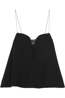 KENZO Cutout crepe camisole   NET-A-PORTER