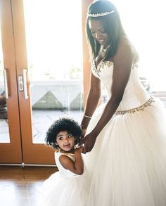 """Our #PninaBride @_maliarose_  woke up this morning and the first thing she heard was her little angel  @evil_queen_bella saying: """"I love you mommy""""  Happy Mother's day to all the mommys out there!! #HappyMothersDay #MothersDay"""