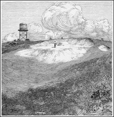 """Franklin Booth, Scribner's Magazine May/1909 - illustration for """"The Ideal Golf Links"""""""