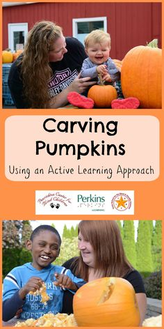 Carving pumpkins using an Active Learning approach! Sensory Activities, Learning Activities, Teaching Ideas, Pumpkin Carving, Carving Pumpkins, Deaf Children, Pumpkin Uses, Multiple Disabilities, Developmental Delays