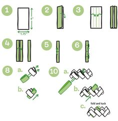 RePlayGround - recycling with a twist!: Candy wrapper napkin ring project