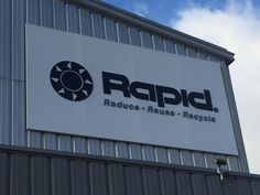 Rapid added large aluminum signage to their location. #AluminumSign