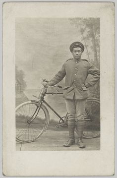 A member of the 55th Company, Chinese Labour Corps, with a bicycle in France, 1918.The scale of fighting on the Western Front created an insatiable demand for labour in the rear areas. The British and French armies met this demand by recruiting labourers from many countries around the world, including China, India, South Africa and Egypt. The Chinese labour corps formed the largest contingent of workers, with nearly a quarter of a million employed in France by 1918.