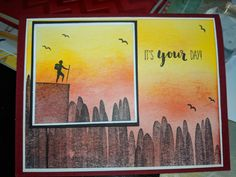 Se Seize The Days, Masculine Cards, Stamp Sets, Stampin Up Cards, Birthday Cards, Catalog, Stamps, Graduation, Card Making