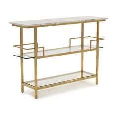 Mitchell Gold Bob Williams Mitchell Gold + Bob Williams Marquis Bar Home - Bloomingdale's Contemporary Bar Carts, Contemporary Furniture, Home Furniture, Furniture Design, Bedroom Furniture, Outdoor Furniture, Tempered Glass Shelves, Mitchell Gold, Shelf Design