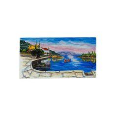 (Ελληνικά) Χειροποίητος πίνακας ζωγραφικής με τοπίο πάνω σε ξύλο ζωγραφισμένο με λαδομπογιάδες Under Construction, Greek, Museum, Paintings, Night, World, Places, Artwork, Handmade