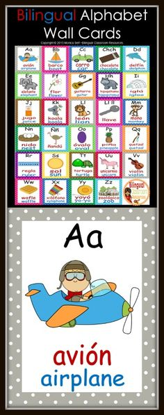 This is a beautiful poster of the Spanish alphabet Each letter - spanish alphabet chart