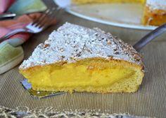 Crostata con con crema e nocciole ricetta con pasta frolla all'olio