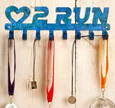 Love to Run Race Medals Display Rack. $40.00, via Etsy.
