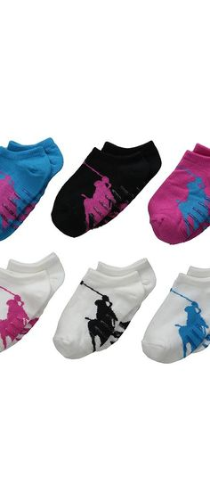 Polo Ralph Lauren Big Polo Player Low Cut 6-Pack (Infant/Toddler) (Multi) Women's Low Cut Socks Shoes - Polo Ralph Lauren, Big Polo Player Low Cut 6-Pack (Infant/Toddler), G42500TPK2, Footwear Socks Low Cut, Low Cut, Socks, Footwear, Shoes, Gift - Outfit Ideas And Street Style 2017
