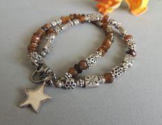Artisan Jewelry Two Strand Beaded Bracelet with by DianesAddiction